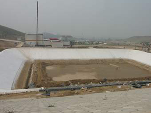 The waterproof and impervious project of the life garbage disposal site of Hefei City